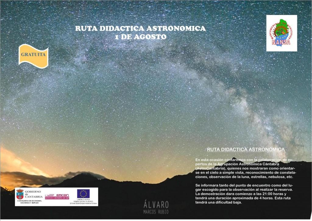 CARTEL ASTRONOMICA